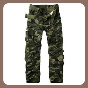 Pantalones Men's BDU Casual Militar, Cotton Camo Tactical Wild Combat