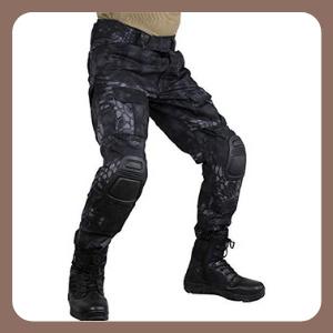 Pantalones zuoxiangru tácticos para Hombre, Multibolsillos, Camuflaje Militar, Aire Libre, Airsoft