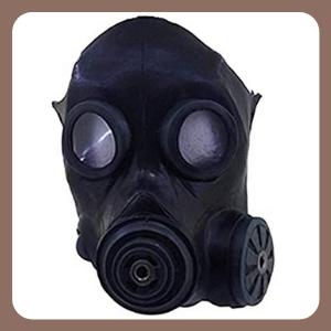 Máscara de Gas Artesanal Respirador Mascara de Gas Steampunk de Latex de Alta Calidad