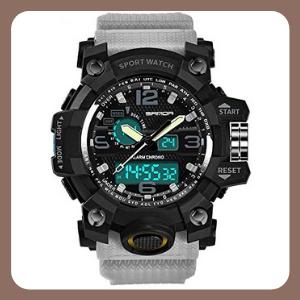 Reloj digital para hombres, militar, deportes, cuarzo electrónico, exteriores, ejército