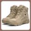 Botines de combate militares y tácticos para hombre, con cordones y cremallera