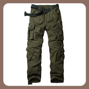 Pantalones tácticos SIGAWN para Hombre Militares Camuflaje con múltiples Bolsillos
