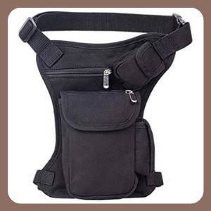 Multiuso Cintura Riñonera Hebetag Canvas Cangurera Drop Leg Bag Bolsa de Pierna de Lona Tactical Military