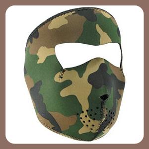 Máscara de Neopreno ZANheadgear , Camuflaje del Bosque