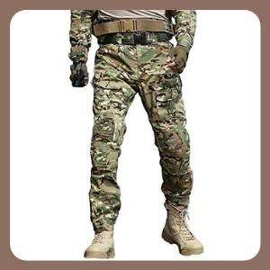 Pantalones TRGPSG tácticos militares, estilo informal, con 10 bolsillos, CP Camo, 30