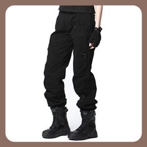 Pantalones UR MAX BEAUTY Tácticos De Algodón Multifunción para Mujer
