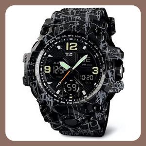 Reloj Redlemon Digital y Análogo Deportivo Militar para Hombre, Modelo 1155B.